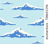 beautiful seamless pattern with ... | Shutterstock .eps vector #708651196