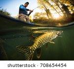 Fishing. Fisherman And Pike ...