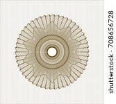 brown rosette or money style... | Shutterstock .eps vector #708656728