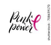 vector breast cancer awareness...   Shutterstock .eps vector #708659170