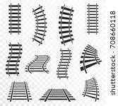 rails set on transparent... | Shutterstock .eps vector #708660118