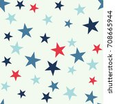 seamless abstract vector... | Shutterstock .eps vector #708665944