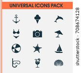 season icons set. collection of ... | Shutterstock .eps vector #708674128