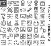 seo   online marketing line... | Shutterstock .eps vector #708674488