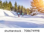cross country skating in... | Shutterstock . vector #708674998