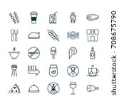 cafe icons set. collection of... | Shutterstock .eps vector #708675790