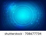 futuristic cyber technology... | Shutterstock .eps vector #708677734