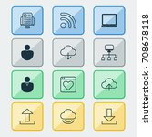 web icons set. collection of... | Shutterstock .eps vector #708678118