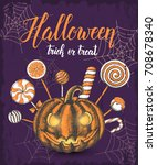 halloween celebration vintage... | Shutterstock .eps vector #708678340