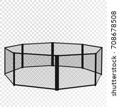 mma cage. octagon isometric...   Shutterstock .eps vector #708678508