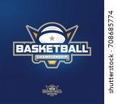 modern professional sport logo... | Shutterstock .eps vector #708685774