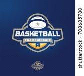 modern professional sport logo... | Shutterstock .eps vector #708685780