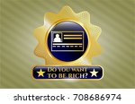 shiny badge with... | Shutterstock .eps vector #708686974