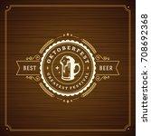 oktoberfest beer festival... | Shutterstock .eps vector #708692368