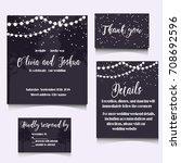 wedding invitation template...   Shutterstock .eps vector #708692596