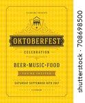 oktoberfest beer festival... | Shutterstock .eps vector #708698500