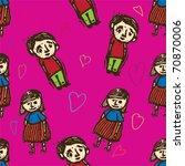 boy and girl pattern | Shutterstock .eps vector #70870006