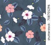 vector seamless beautiful... | Shutterstock .eps vector #708701296
