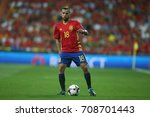 Small photo of 2 september 2017. Stadio Santiago Bernabèu, Madrid, Spain. FIFA 2018 World Cup Qualifier. Group G. Match between Spain vs Italy. Jordi Alba in action during the match.