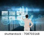 digital composite of... | Shutterstock . vector #708703168