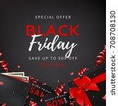 dark background for black... | Shutterstock .eps vector #708708130