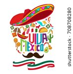 mexico independence day... | Shutterstock .eps vector #708708280