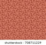 decorative seamless geometric...   Shutterstock . vector #708711229