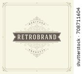 ornament logo design template... | Shutterstock .eps vector #708711604