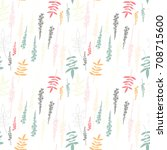 floral vector seamless pattern... | Shutterstock .eps vector #708715600