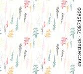 floral vector seamless pattern... | Shutterstock .eps vector #708715600
