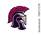 gladiator helmet logo or icon.... | Shutterstock .eps vector #708717178