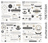 retro vintage typographic... | Shutterstock .eps vector #708720364