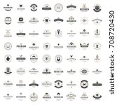 vintage logos design templates... | Shutterstock .eps vector #708720430