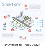 smart city isometric... | Shutterstock .eps vector #708724324