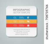 vector infographic template  3... | Shutterstock .eps vector #708735766