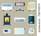 vector set of various heating...   Shutterstock .eps vector #708743074