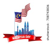 vector illustration of malaysia ... | Shutterstock .eps vector #708743836