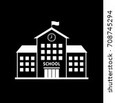 white school vector icon on... | Shutterstock .eps vector #708745294