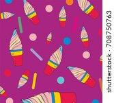 ice cream summer design pastel...   Shutterstock .eps vector #708750763