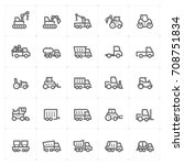 mini icon set   construction... | Shutterstock .eps vector #708751834