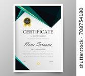 certificate premium template... | Shutterstock .eps vector #708754180