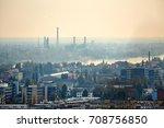 smoggy urban landscape | Shutterstock . vector #708756850