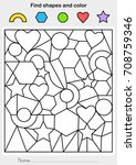 find shapes and color  ... | Shutterstock .eps vector #708759346