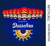 shubh dussehra  vector... | Shutterstock .eps vector #708761188
