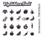 set of vector icons with... | Shutterstock .eps vector #708765613