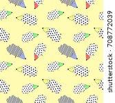 hedgehog paters seamless... | Shutterstock .eps vector #708772039