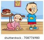 cartoon vector illustration of... | Shutterstock .eps vector #708776980