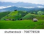 pa pong piang rice terraces ...   Shutterstock . vector #708778528