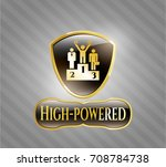 gold shiny emblem with... | Shutterstock .eps vector #708784738