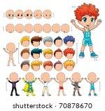 avatar boy  vector illustration ... | Shutterstock .eps vector #70878670